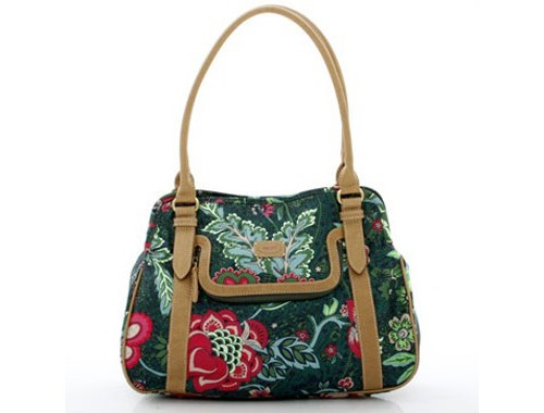 Oilily Paisley Flower - M Carry All - Green