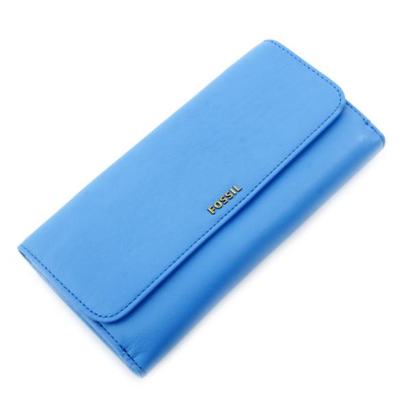 Memoir Flap Checkbook - Medium Blue