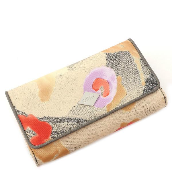 Etch Flowers - L Wallet - Biscuit