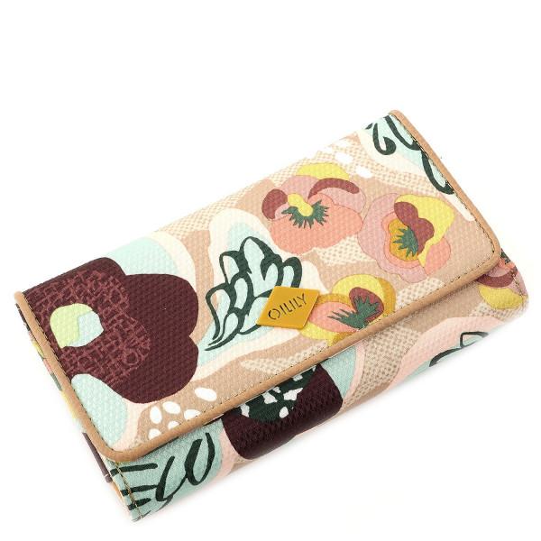 Violets - L Wallet - Biscuit