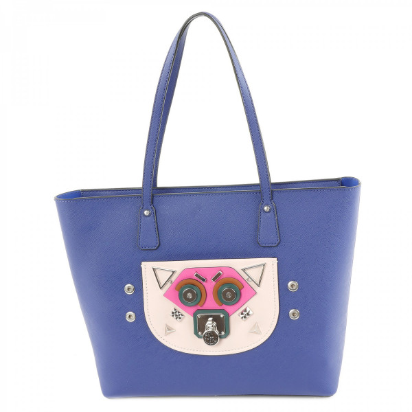 Cyber Rock - Tote - Blue Multi