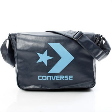 Chevron Shoulder Bag Laptop - Blau