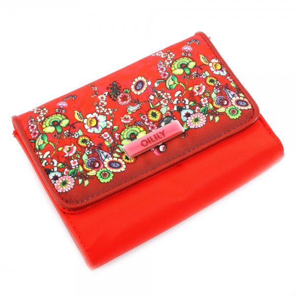 Flower Tope - S Wallet - Red
