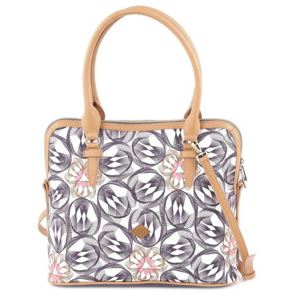 Flower Swirl M Carry All - Charcoal