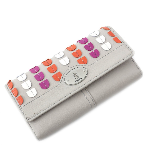 Marlow Patchwork Clutch - Mineral Gray