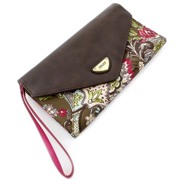 French Paisley Clutch - Moos