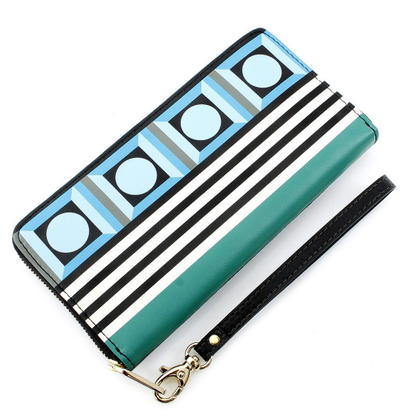 Giftable Robot Zip Clutch - Blue Multi