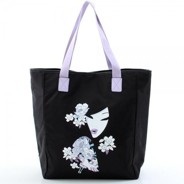 Koyuki Shopper - Black/Lilac