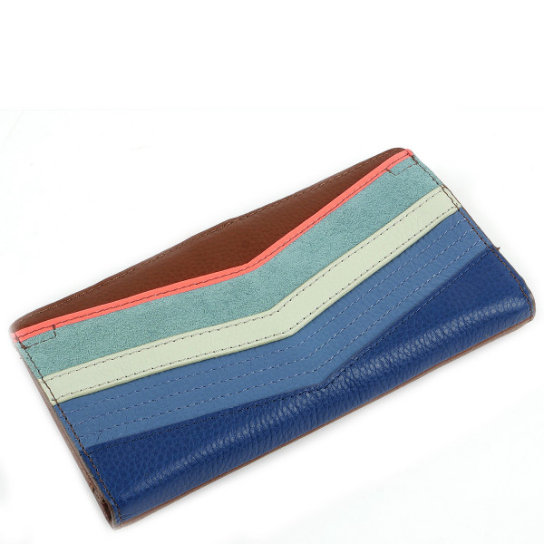 Caroline Slim Bifold Wallet - Bright Stripe