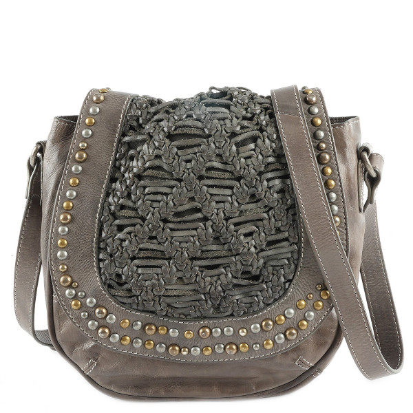 Cow Semi Saddle Bag - Stone