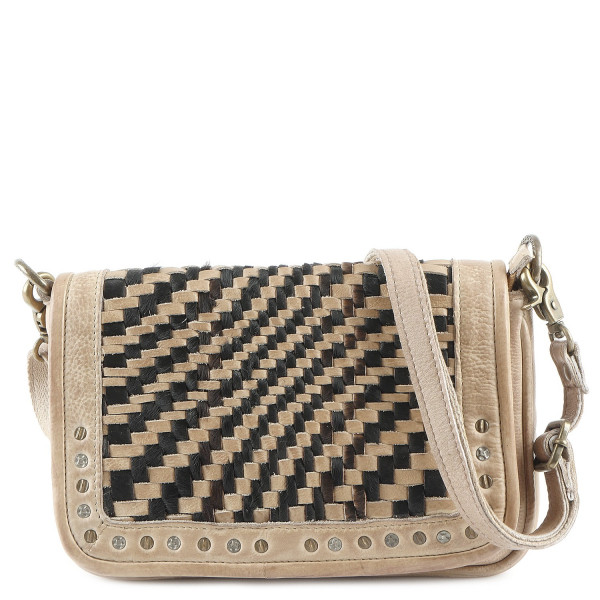 Cow Weaving Small Shoulderbag - Sand