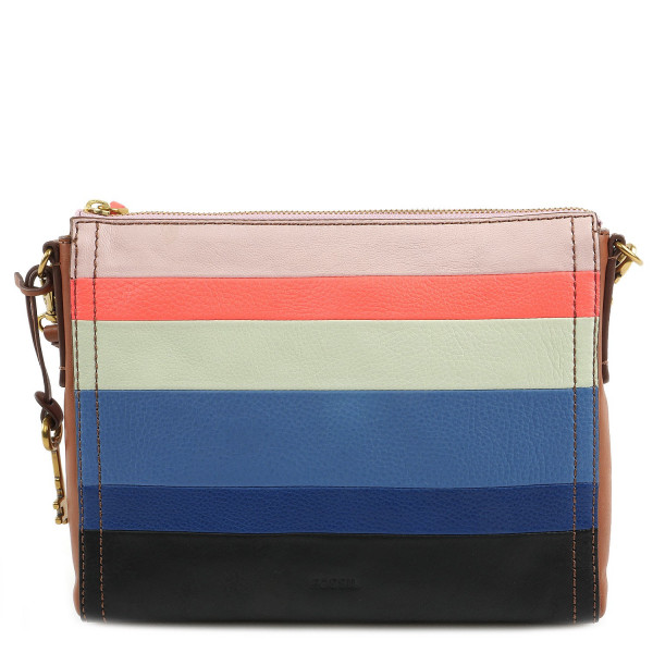 Emma Crossbody Color Blocking - Bright Stripe