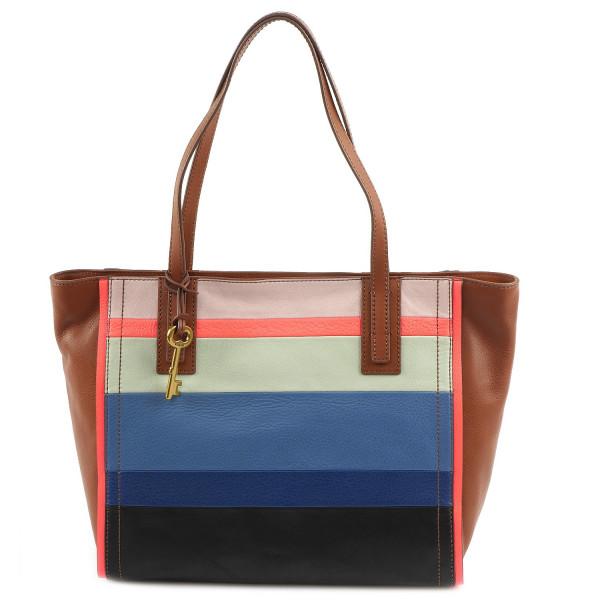 Emma Tote Color Blocking - Bright Stripe