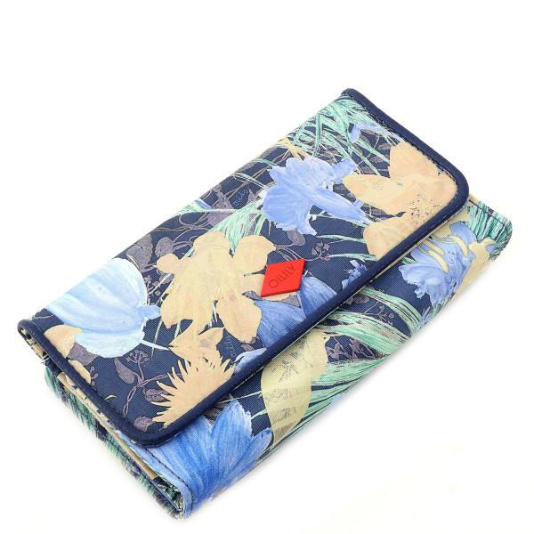 Flower Field - L Wallet - Blueberry