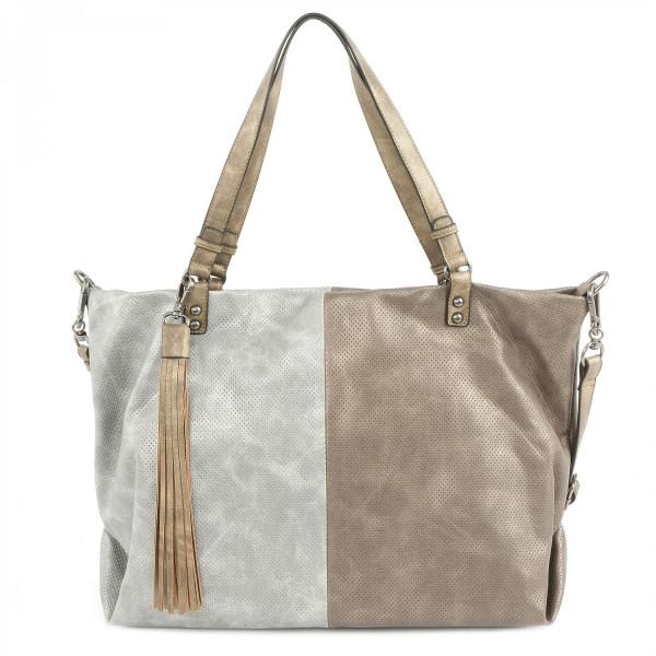 Romy - L Shopper - Silver Kombi
