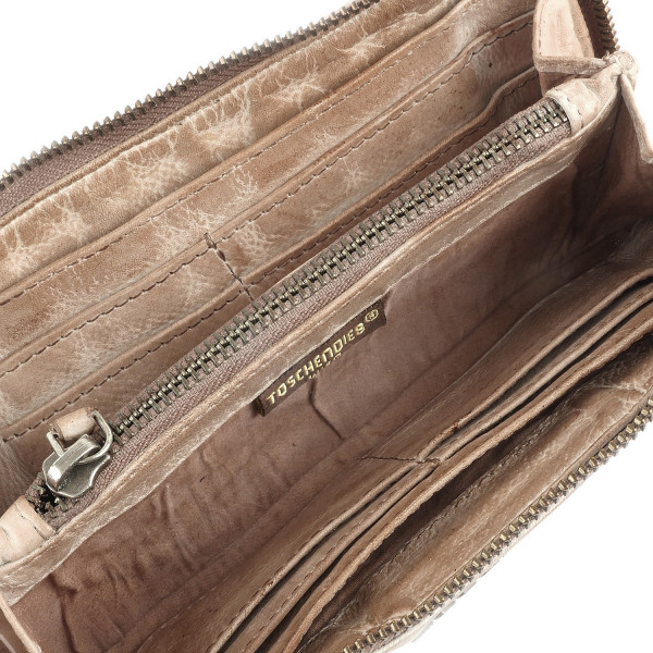 Cow Woven - L Wallet - Nude