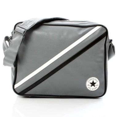 Retro Patch Stripe Shoulderbag - Grau
