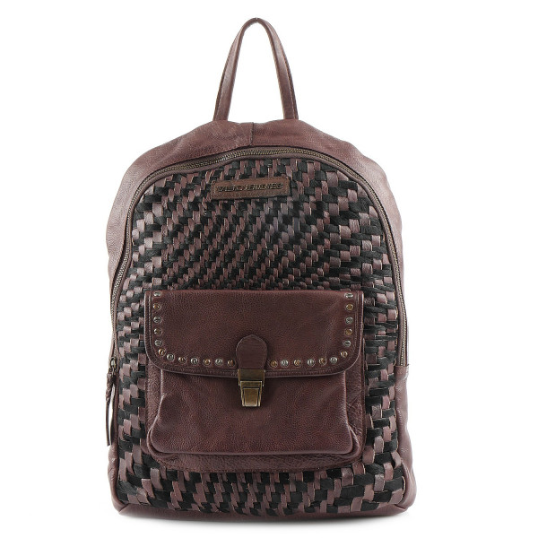 Cow Weaving Backpack & Shoulderbag - Schoko