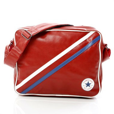 Retro Patch Stripe Shoulderbag - Rot
