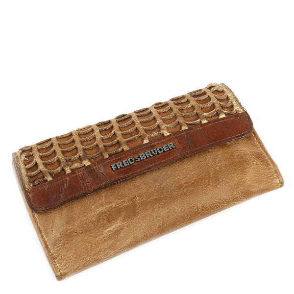 Wallet Funny Smiling Fish - Oak Buff