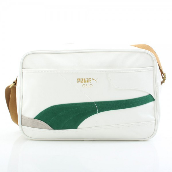 Oslo Reporter Bag - White/Greenlake