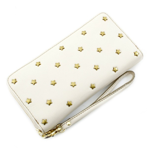Sydney Embellished Zip Clutch - Bone