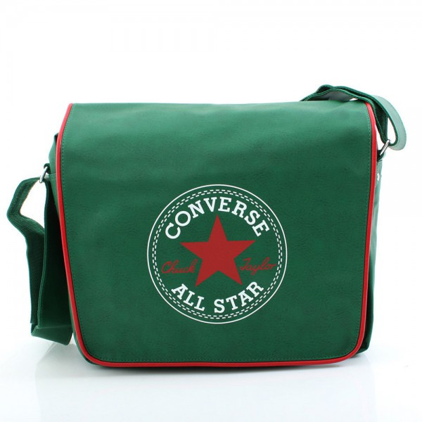 Vintage Retro Flapbag - Dark Green - Laptop