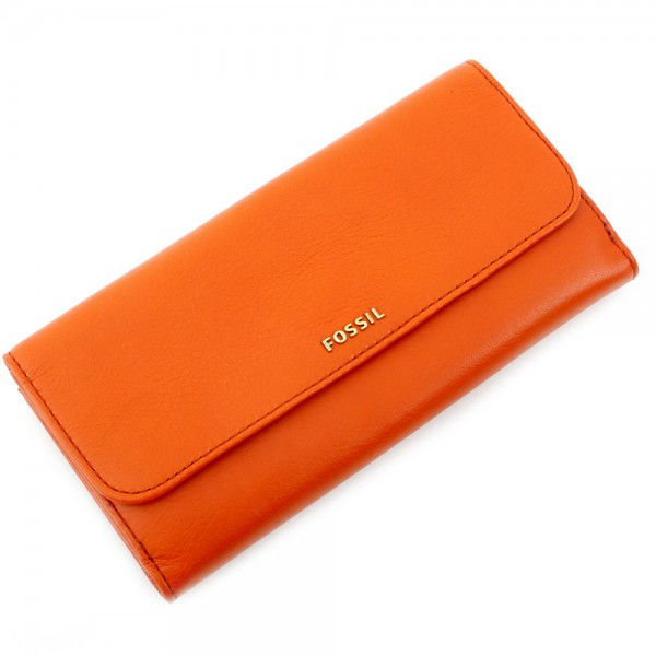 Memoir Flap Checkbook - Orange