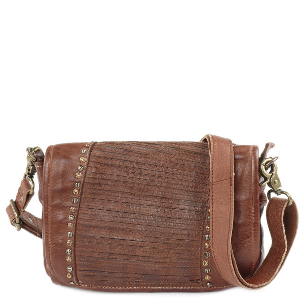Cow Striped - S Shoulderbag - Cognac