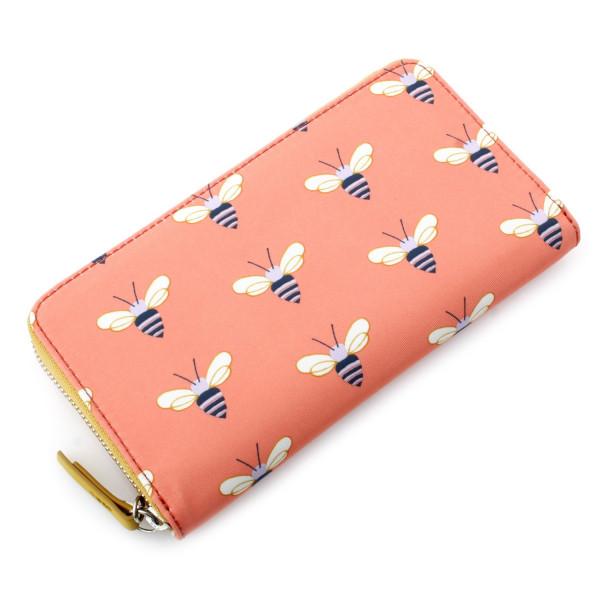 Key-Per Zip Clutch - Pink Multi