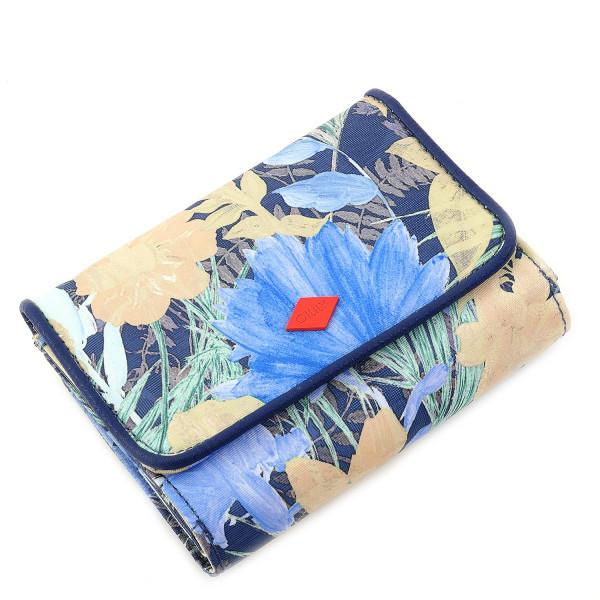 Flower Field - S Wallet - Blueberry