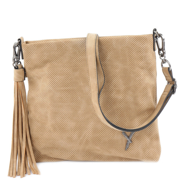 Romy - Top Zip Bag M - Camel
