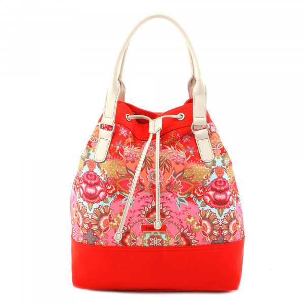 Kaleidoscope - Drawstring Shopper - Red
