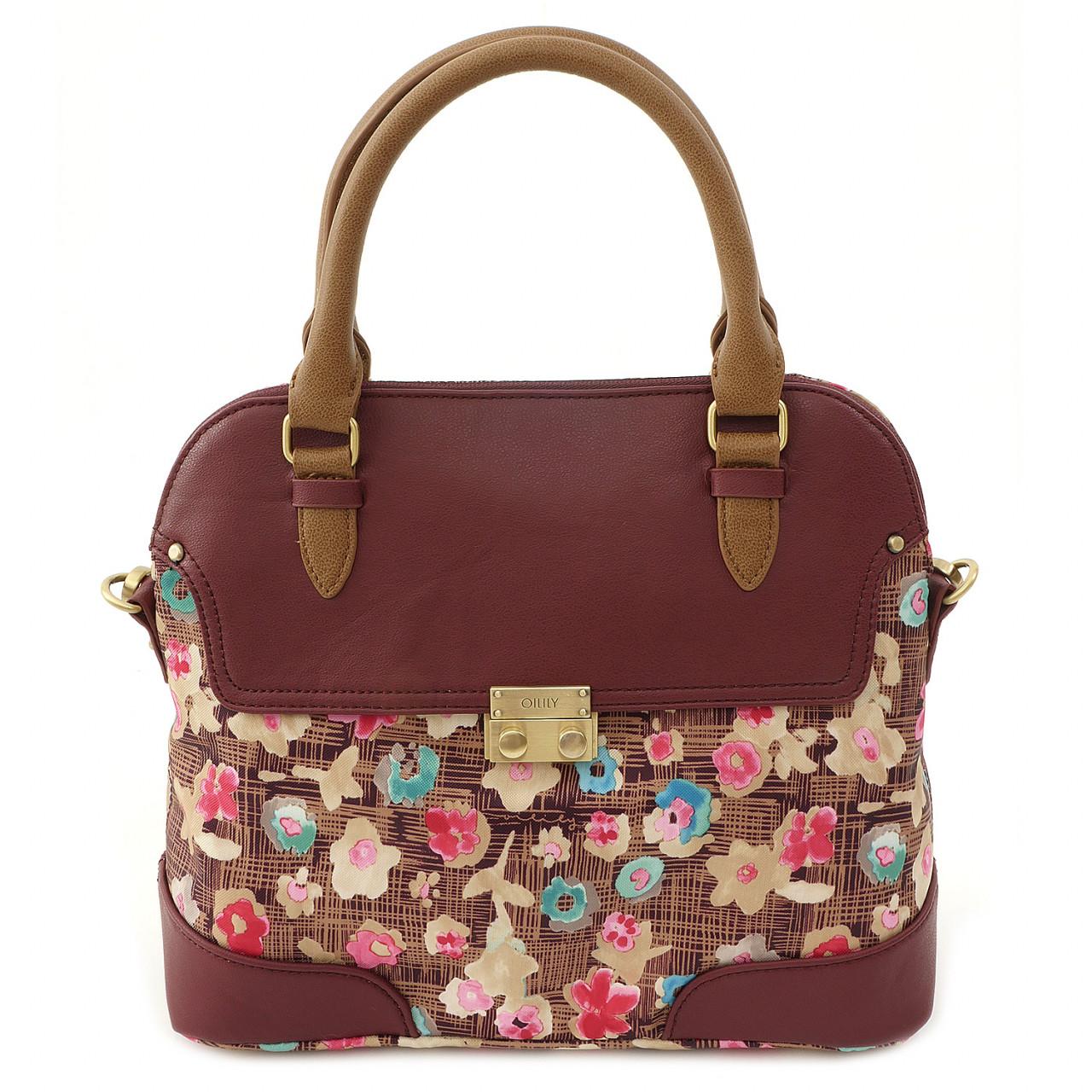 Etch Flowers - Handbag - Brownie