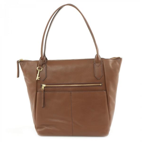 Fiona Leather Tote - Medium Brown