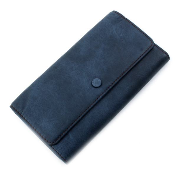 Abbot Leather Clutch mit Handyfach - Blue