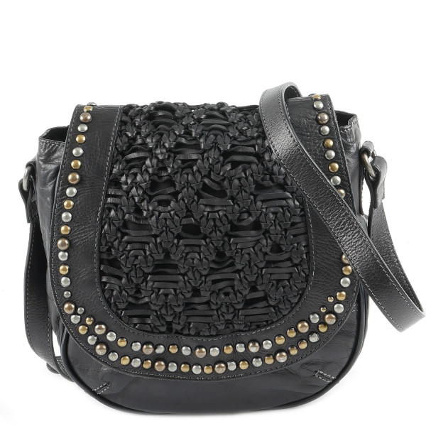 Cow Semi Saddle Bag - Anthrazit