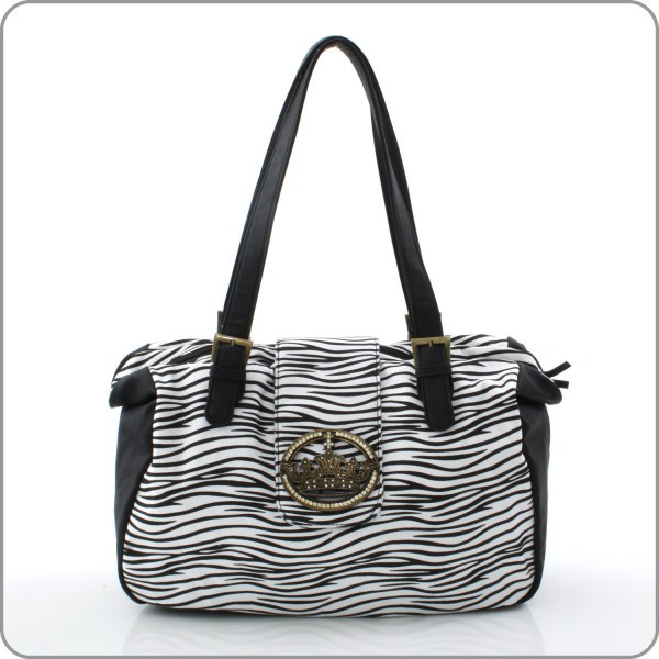 Crown Handbag - Zebra