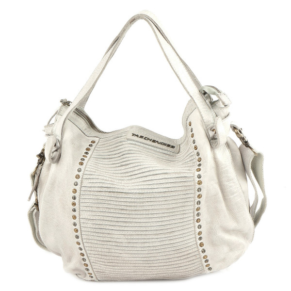 Cow Striped - L Shoulderbag - Offwhite