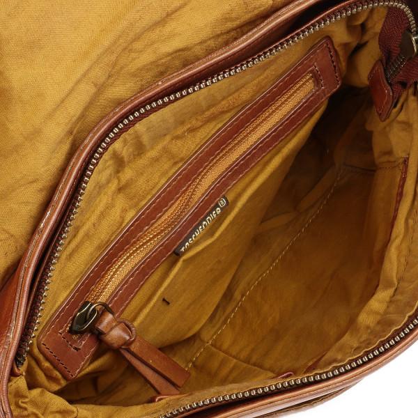 Cow Patchwork - S Shoulderbag - Cognac
