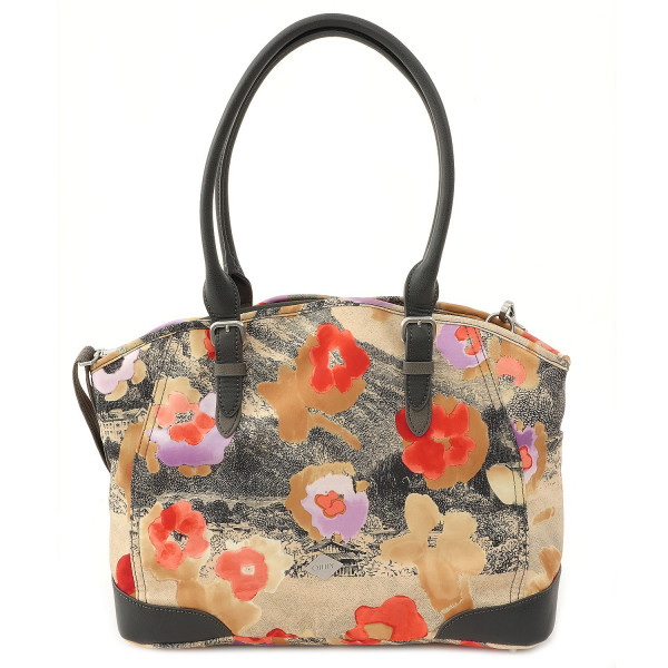 Etch Flowers - M Carry All - Biscuit